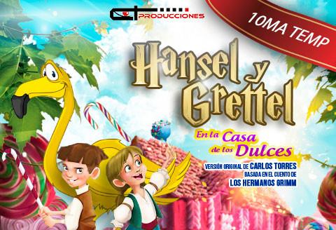 Hansel y Grettel en la casa de los dulces